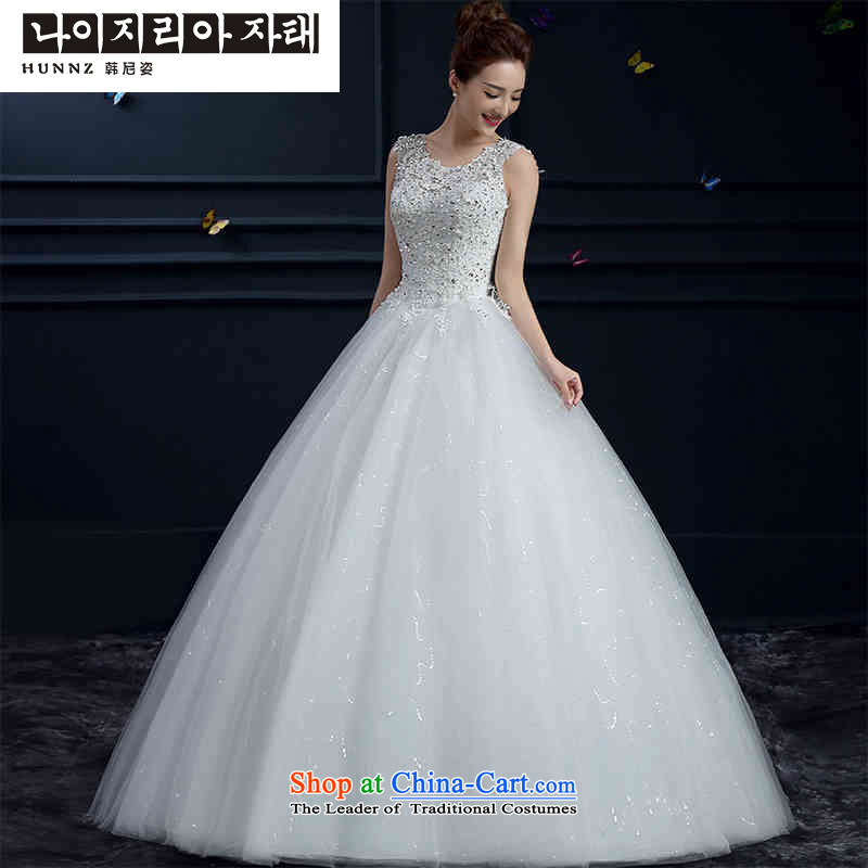 The new 2015 hannizi spring and summer Korean word stylish shoulder straps shoulders to align the Sau San bride wedding White M