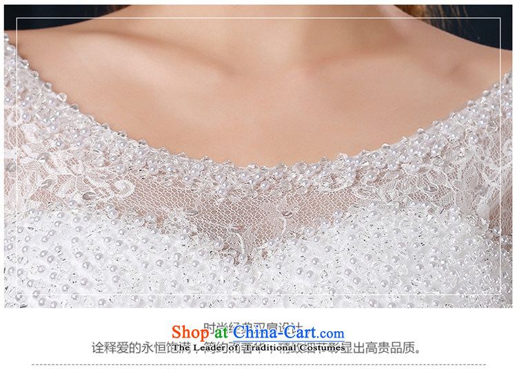 The spring and summer of 2015 New hannizi word, shoulder to align graphics stylish thin shoulders Korean version of large code bride wedding white L picture, prices, brand platters! The elections are supplied in the national character of distribution, so action, buy now enjoy more preferential! As soon as possible.