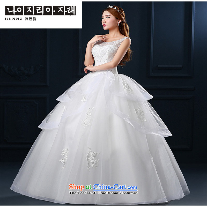 The spring and summer of 2015 New hannizi word, shoulder to align graphics stylish thin shoulders Korean version of large code bride wedding white L, Korea, Gigi Lai (hannizi) , , , shopping on the Internet