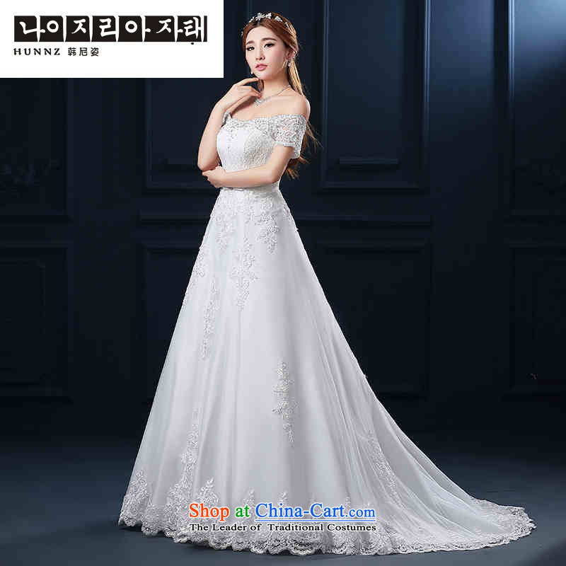 The Korean version of the Sau San hannizi 2015 stylish new spring and summer word shoulder straps small trailing video thin bride wedding White?XL