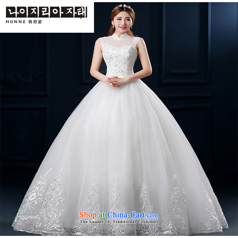 The spring and summer of 2015 a hannizi field shoulder the new Korean fashion to align the large package shoulder graphics thin bride wedding white�S