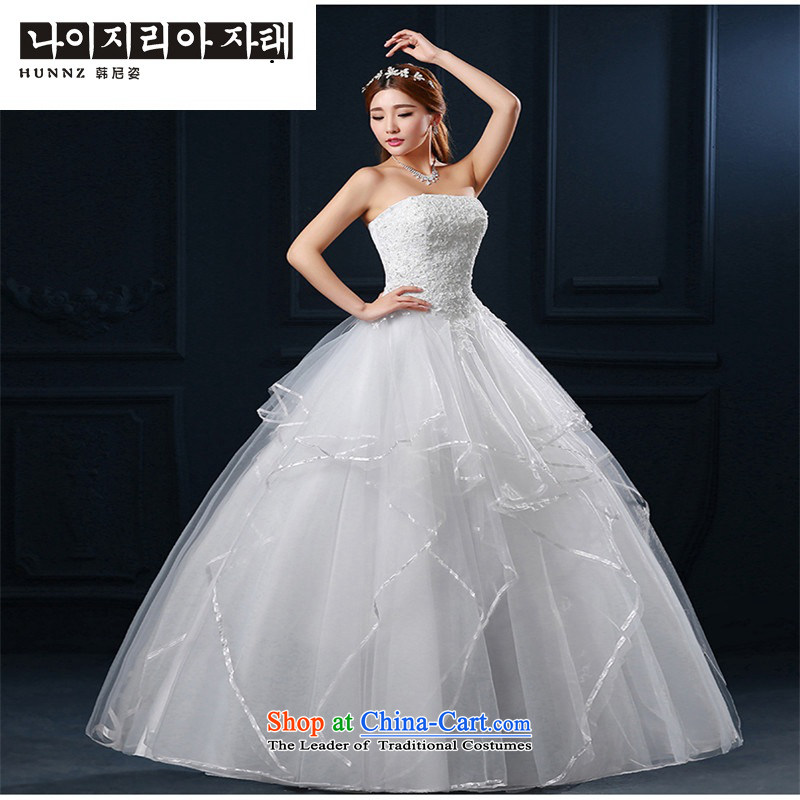 Minimalist 2015 hannizi new spring and summer stylish white lace alignment with Chest Korean brides wedding white?L
