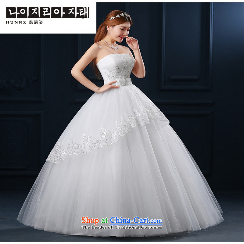 2015 Korean hannizi spring and summer new anointed chest modern large graphics thin minimalist whiteXXL, bride wedding, Gigi Lai (hannizi won) , , , shopping on the Internet
