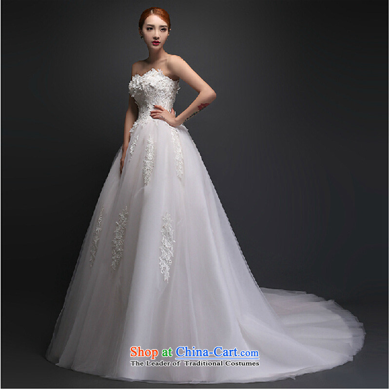 2015 bride quality custom anointed chest straps spring wedding dresses red stylish long tail luxury, new White聽M Photography