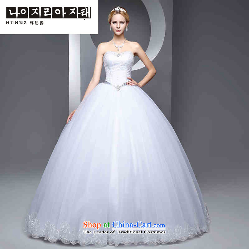 The new 2015 hannizi spring and summer Korean-style wedding to align the bride large graphics thin minimalist Sau San wedding white�S