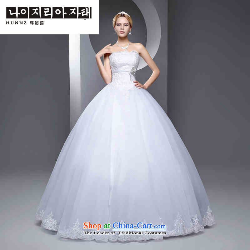 The new 2015 hannizi spring and summer Korean fashion Sau San video thin marriages and chest to bride wedding white?L