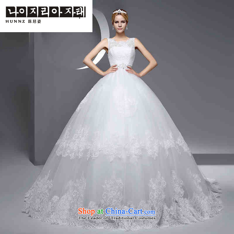 New 2 2015 hannizi shoulder Korean style is simple and stylish small trailing large graphics thin marriages wedding White?XXL