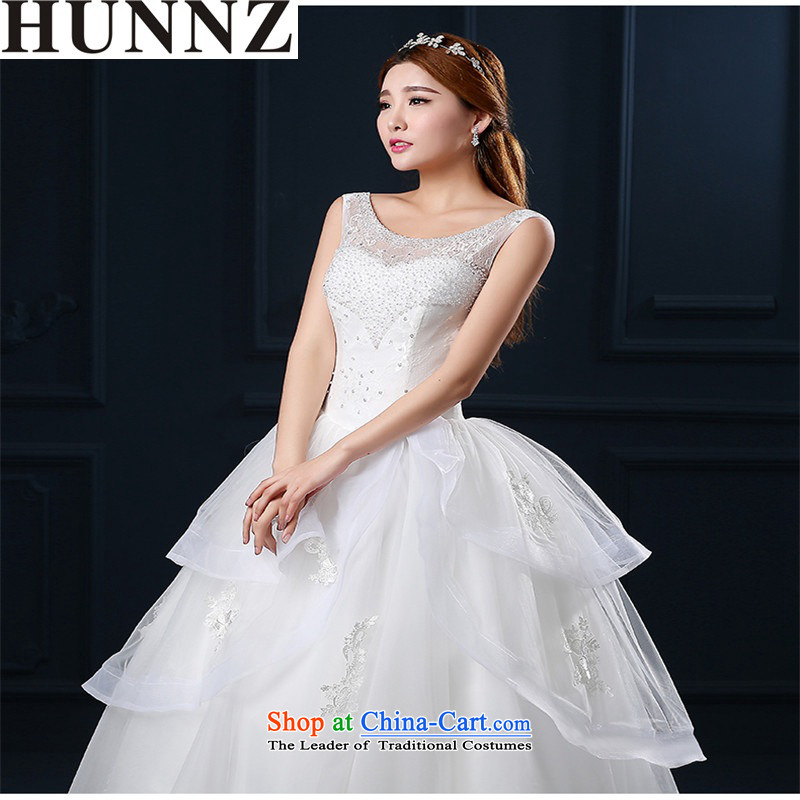 2015 Korean Style New HUNNZ spring and summer, stylish straps Princess Skirt holding shoulders video thin minimalist bride wedding white?S