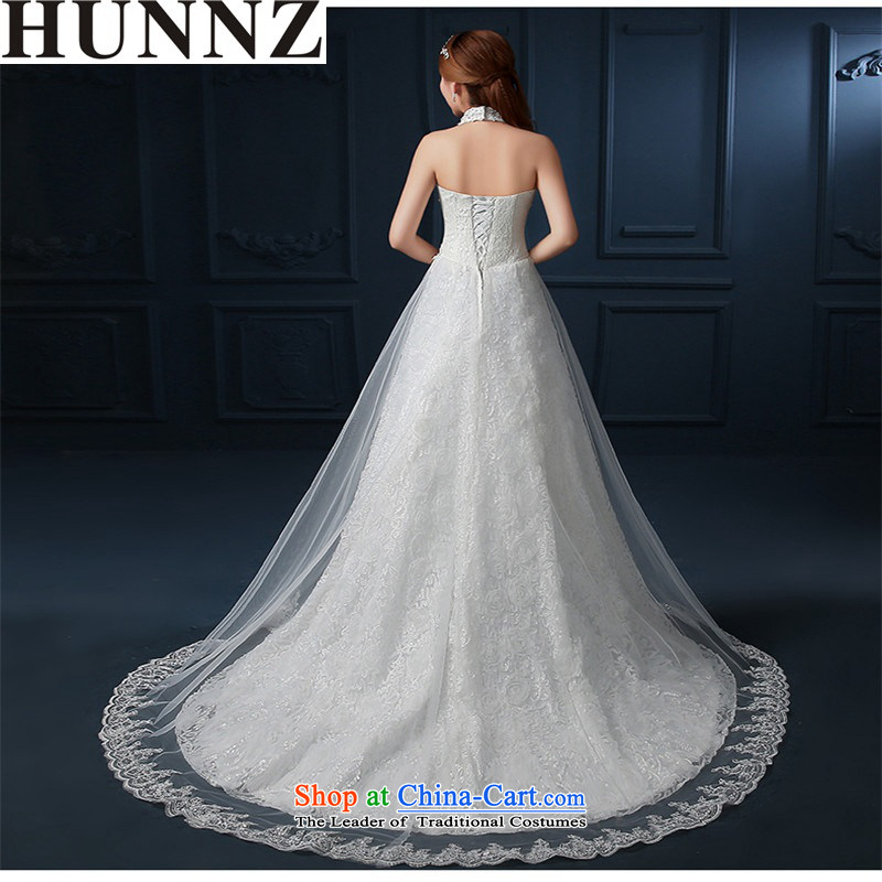 The new 2015 HUNNZ spring and summer-history lace strap is simple and stylish, classy and Korean style graphics thin white wedding bride�S