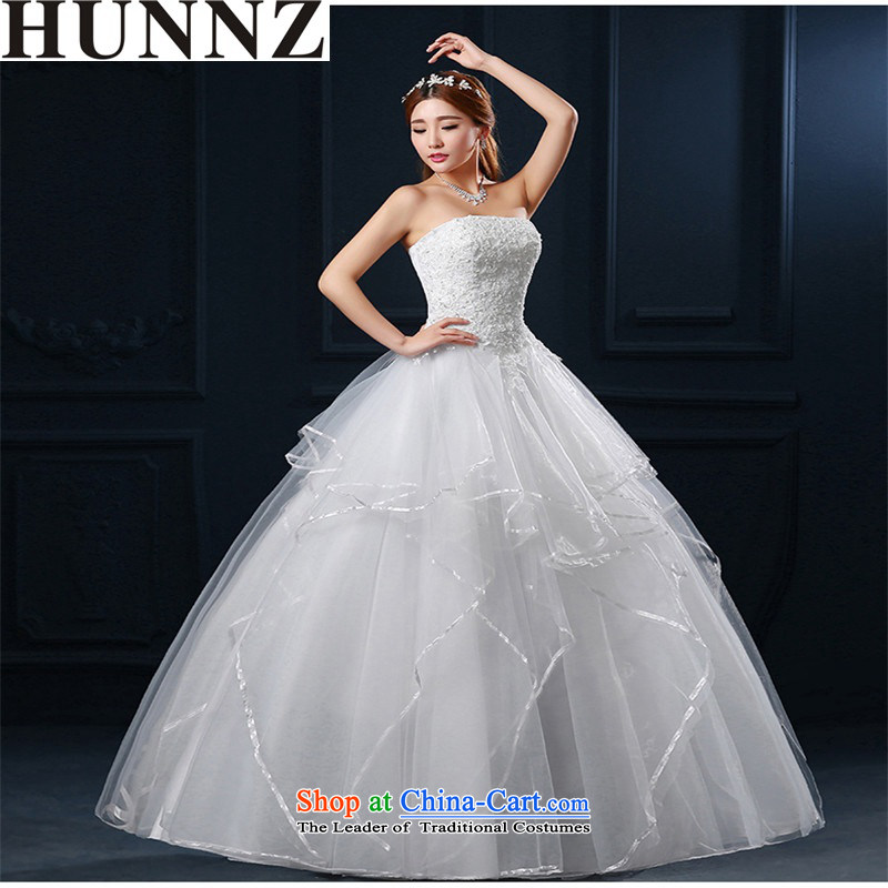 Hunnz   ?bon bon skirt Korean Style New stylish Spring_Summer 2015 retro straps lace bride wedding White?M