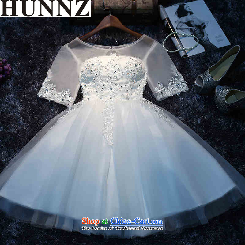 ?  ?Stylish Korean style 2015 HUNNZ new spring and summer lace strap minimalist white bride wedding White?XXL