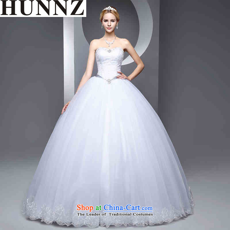 Hunnz 2015 wedding bride white continental and chest straps bon bon skirt Sau San video thin wedding White聽XXL