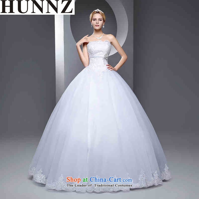 The new 2015 HUNNZ spring and summer large stylish graphics thin Sau San minimalist straps bon bon skirt white bride wedding White聽M