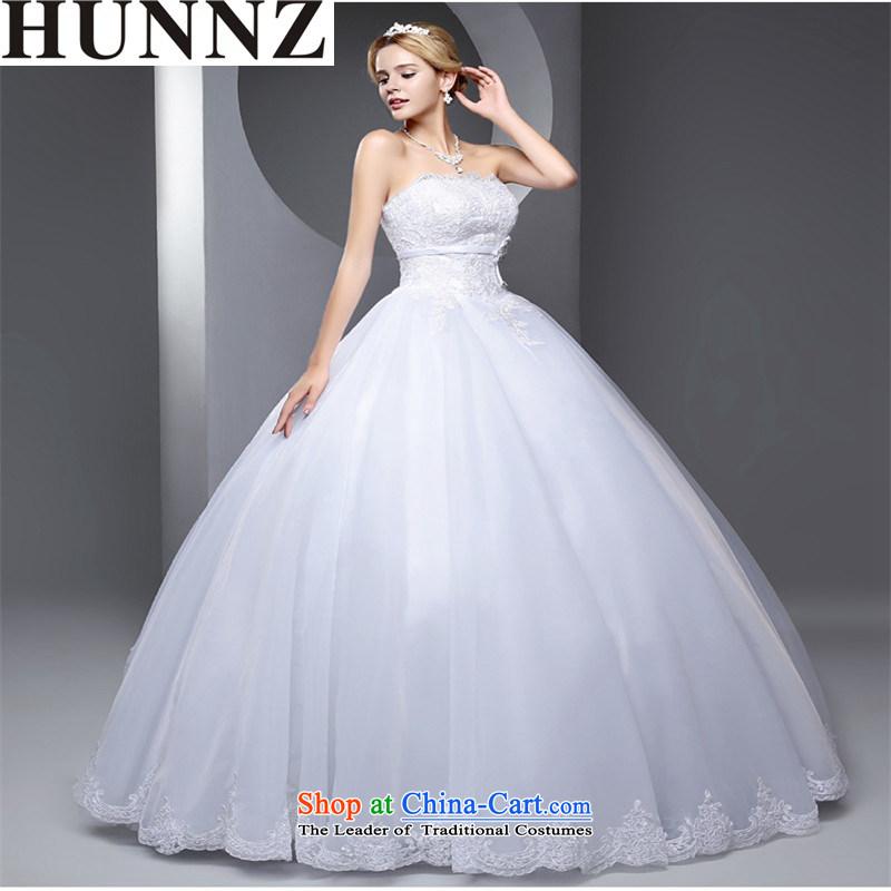 The new 2015 HUNNZ spring and summer large stylish graphics thin Sau San minimalist straps bon bon skirt white bride wedding whiteM,HUNNZ,,, shopping on the Internet