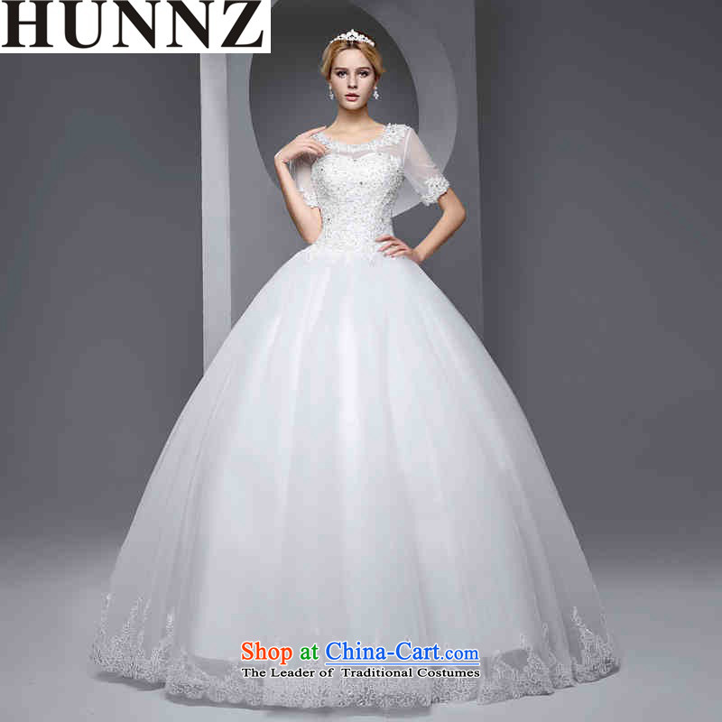 ?  ?New stylish HUNNZ Spring_Summer 2015 Integrated with gauze large graphics thin Sau San bride wedding White?XXL
