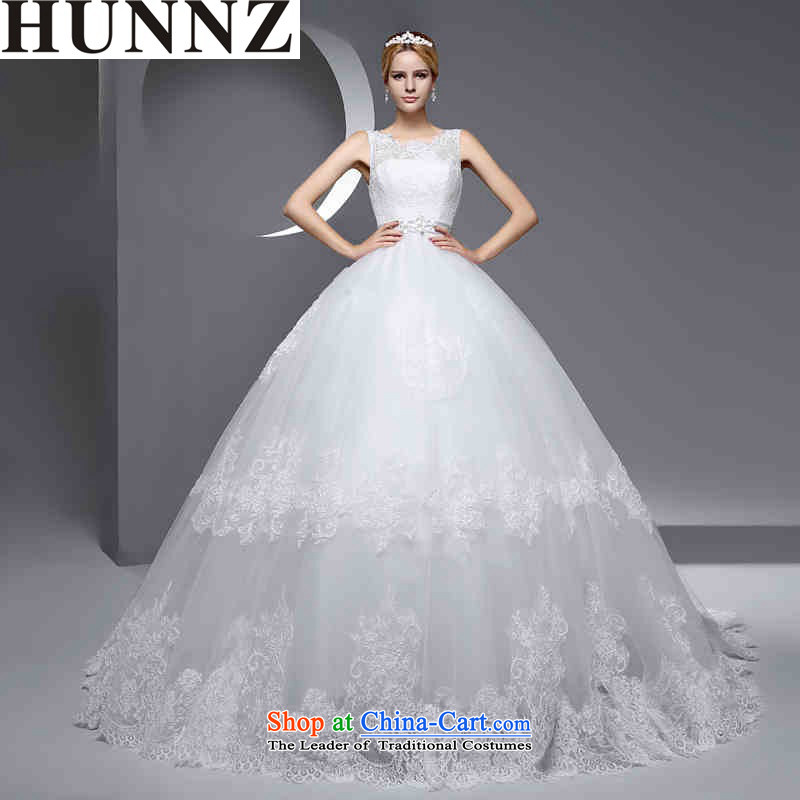 ?  ?Large stylish HUNNZ Sau San 2015 new spring and summer large tie minimalist bride wedding White?XXL