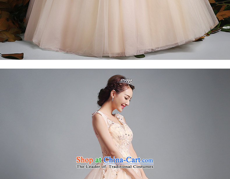 To align the Jacob Chan wedding dresses fluoroscopy shoulders V-Neck 2015 new summer and fall of champagne color Bow Tie Princess bon bon skirt champagne color pictures, prices, XXL brand platters! The elections are supplied in the national character of distribution, so action, buy now enjoy more preferential! As soon as possible.