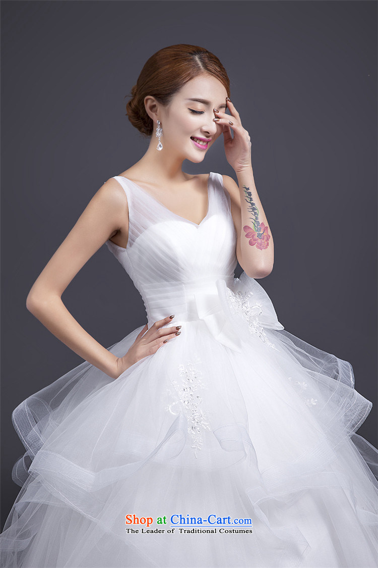 Hunnz V-neck in the EURO 2015 new stylish spring and summer bon bon skirt white upscale bride Sau San wedding whitepicture, prices, S brand platters! The elections are supplied in the national character of distribution, so action, buy now enjoy more preferential! As soon as possible.