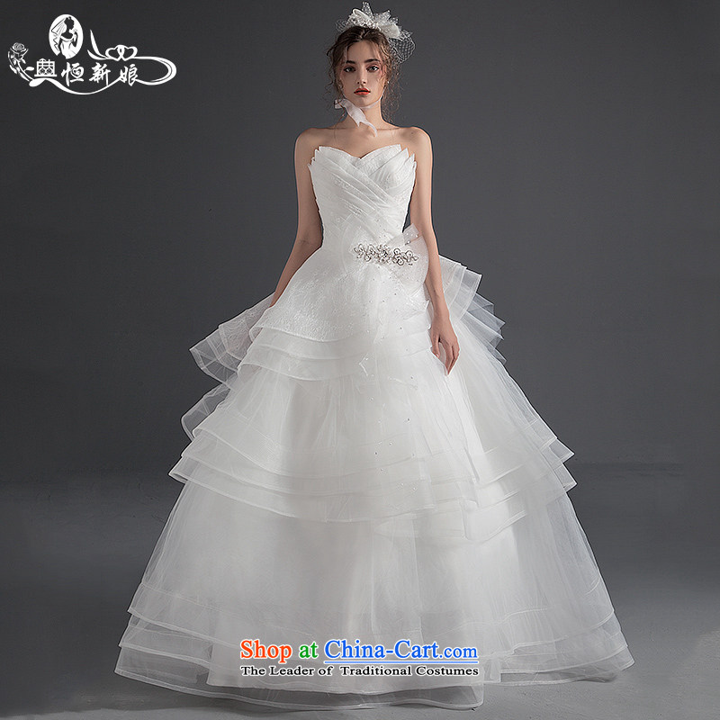 Noritsune bride Wedding 2015 Summer new wedding dress with stylish wiping the chest to pregnant women wedding code female Custom Level Bright White gauze?M