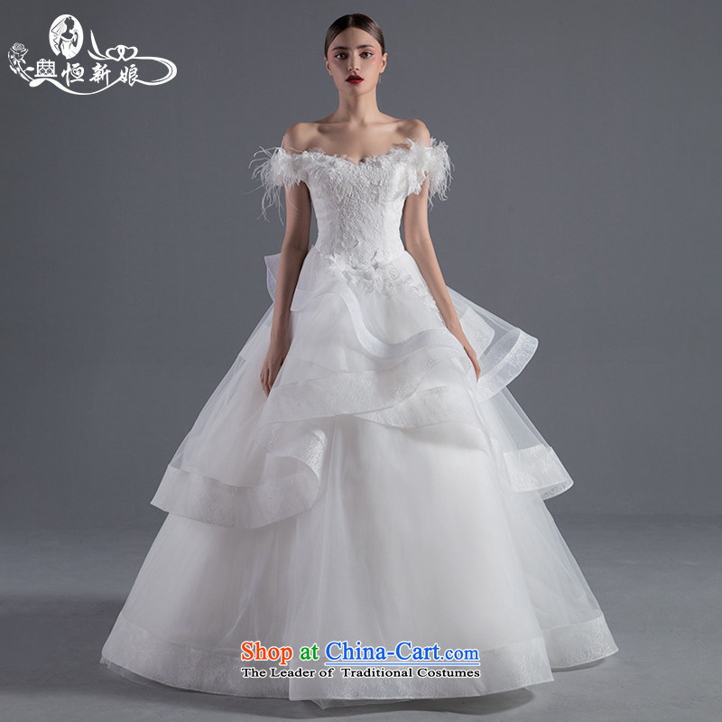 Noritsune bride Wedding 2015 Summer new anointed one chest field shoulder straps A swing wedding lace flowers wedding new pre-sale fine custom White M