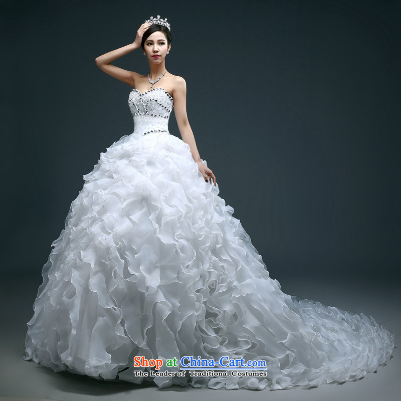 Name of the new 2015 hannizi spring and summer large stylish integrated graphics thin with Sau San continental bon bon skirt bride wedding White M Won, Gigi Lai (hannizi) , , , shopping on the Internet