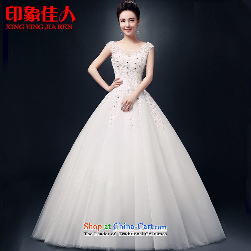 Starring impression wedding dresses�2015 new Korean brides shoulders to align the word CUSTOM shoulder wedding Sau San�L