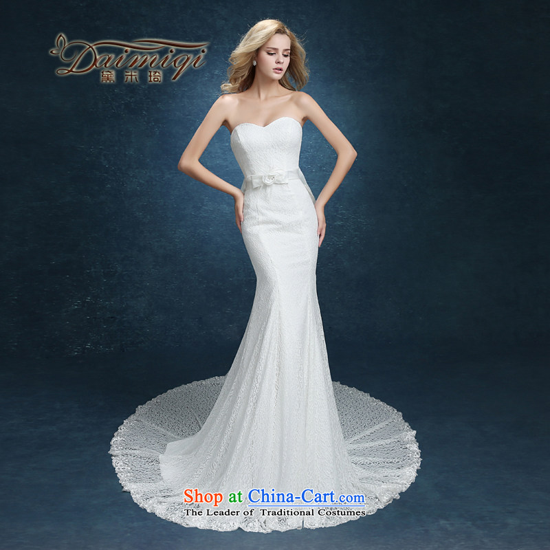 Wedding dresses 2015 Summer retro Foutune of Hamor the word crowsfoot chest shoulder small trailing stars of the same wedding minimalist white?L