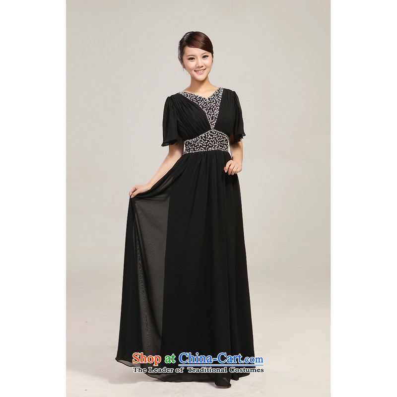 Manually staple Pearl White Large Long chiffon choral services will dance wearing black uniforms choral conductor�L