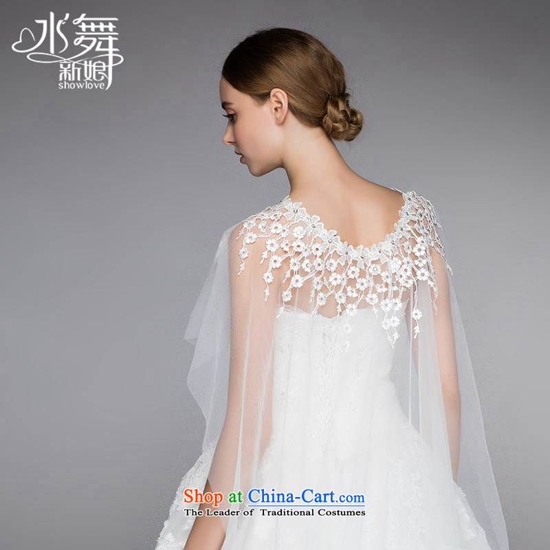 Water _ bridal saika hedging shawls and legal wedding accessories photo building style white yarn shawl short_
