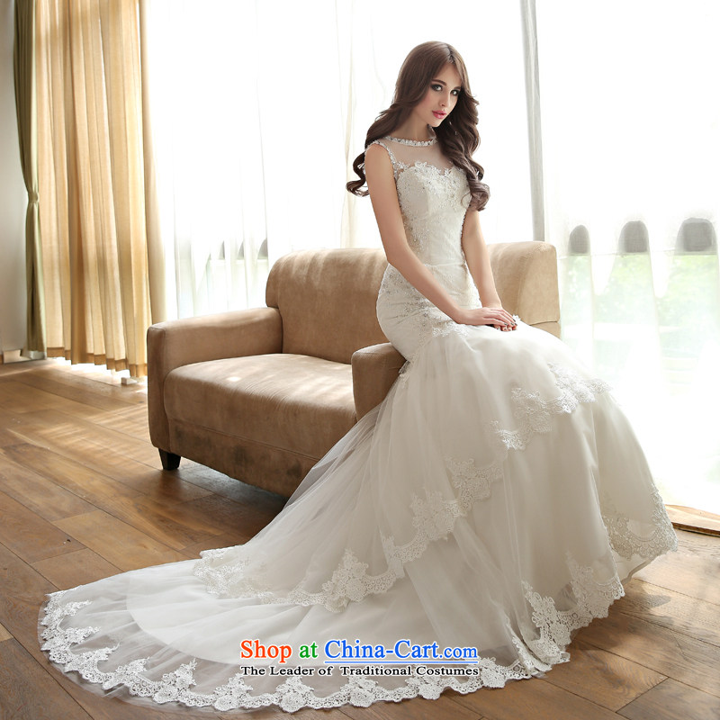 Crowsfoot wedding tail summer Korean lace 2015 new bride autumn shoulders Foutune of video out of thin white Sau San?XL