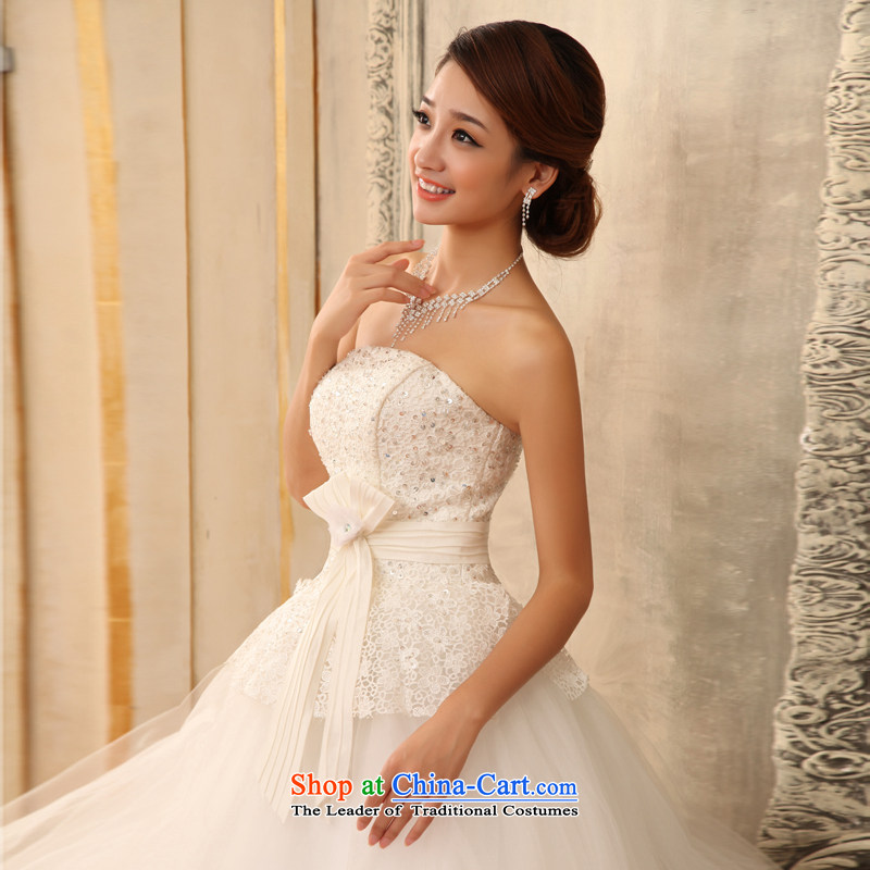 In the early 2015 new man anointed chest bon bon skirt wedding water-soluble lace marriages to align the strap wedding white XXL, early man , , , shopping on the Internet