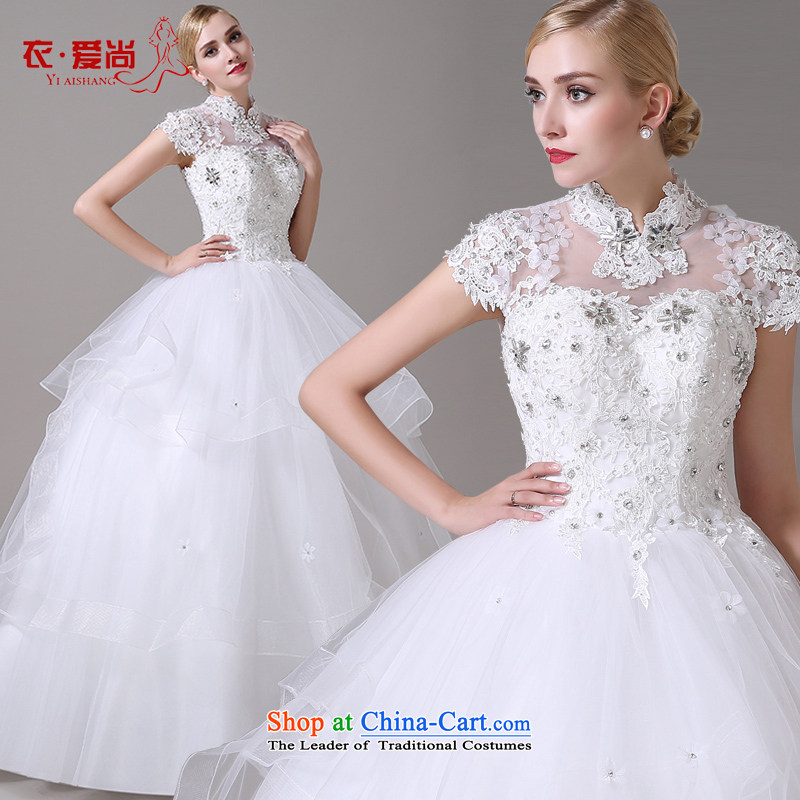 Wedding dresses new Word 2015 Summer your shoulders to pregnant women lace video thin Korea version of large code tail wedding female white can be made plus _30 Does Not Return