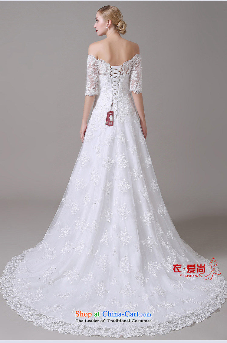 Wedding dress 2015 new word shoulder major Korean tail wedding lace video thin straps crowsfoot wedding summer female white L picture, prices, brand platters! The elections are supplied in the national character of distribution, so action, buy now enjoy more preferential! As soon as possible.