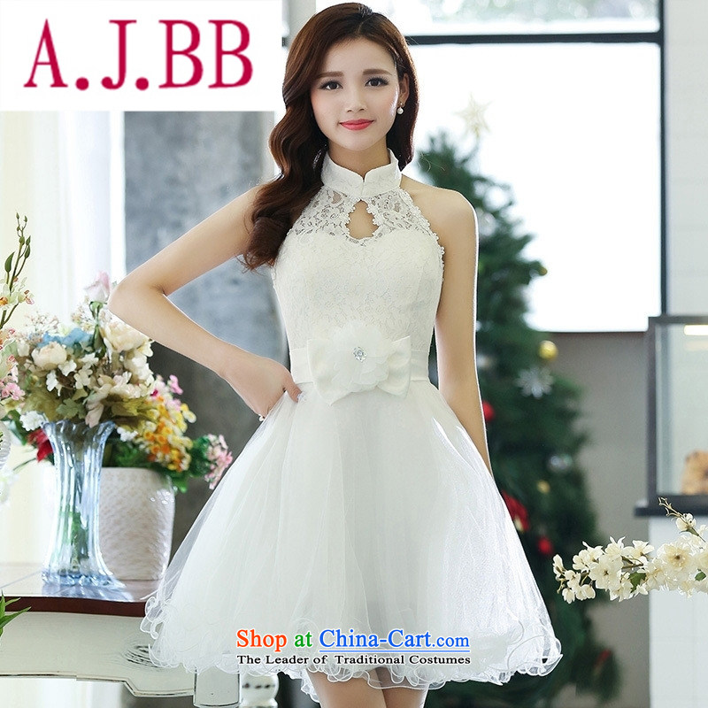 Ya-ting stylish shops fall 2015 new Korean version of the noble and elegant and stylish pet dress�HSZM1516�White�M