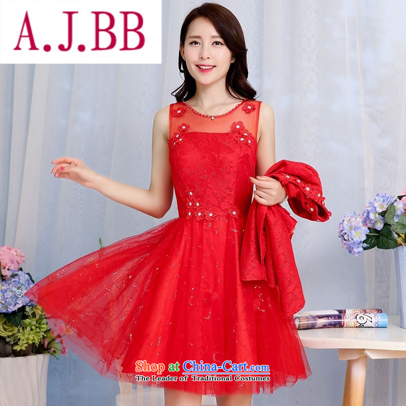 Ya-ting stylish shops fall 2015 new Korean version of the noble and elegant and stylish pet dress?HSZM1582?RED?M