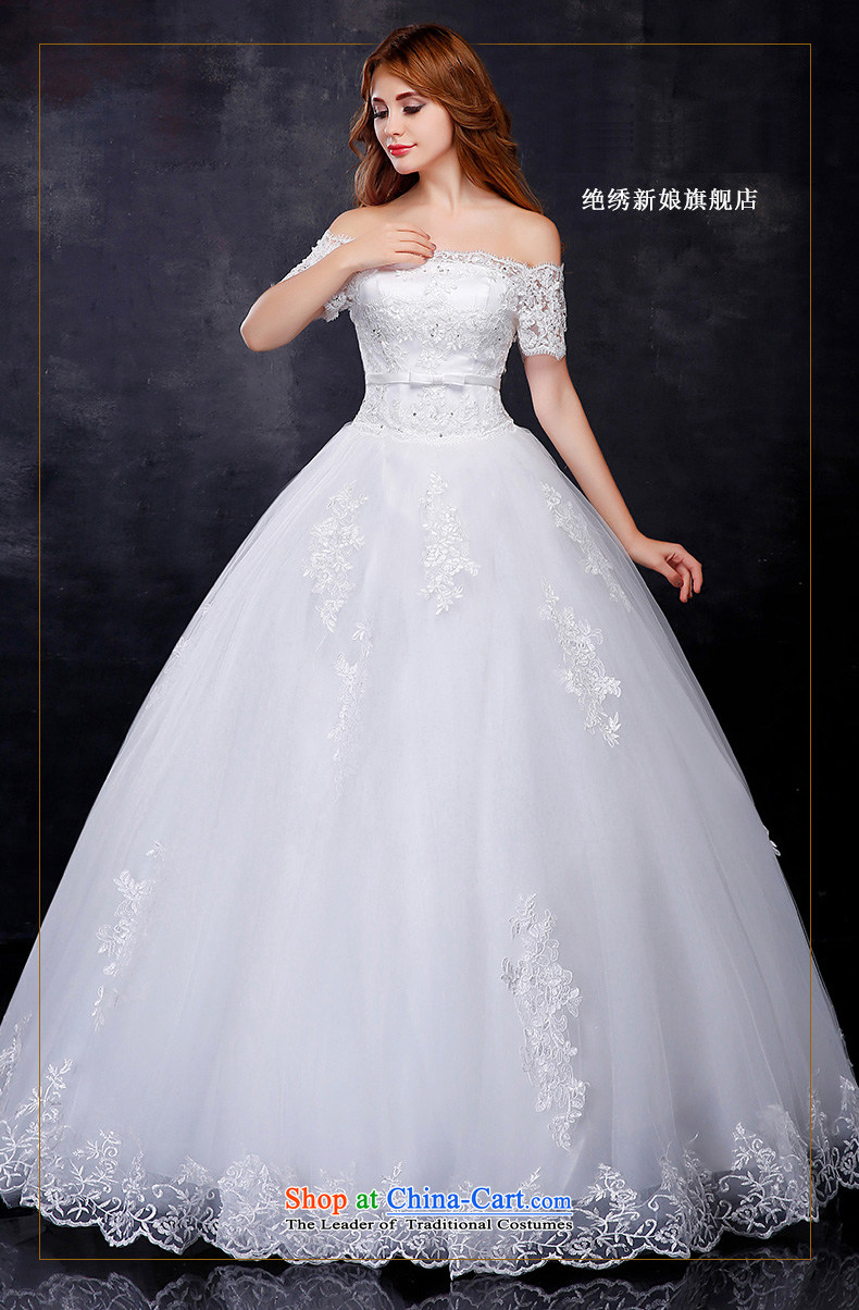 Summer 2015 new Korean word lace shoulder larger video thin bride align to bind with the marriage wedding dress WhiteXXL picture, prices, brand platters! The elections are supplied in the national character of distribution, so action, buy now enjoy more preferential! As soon as possible.