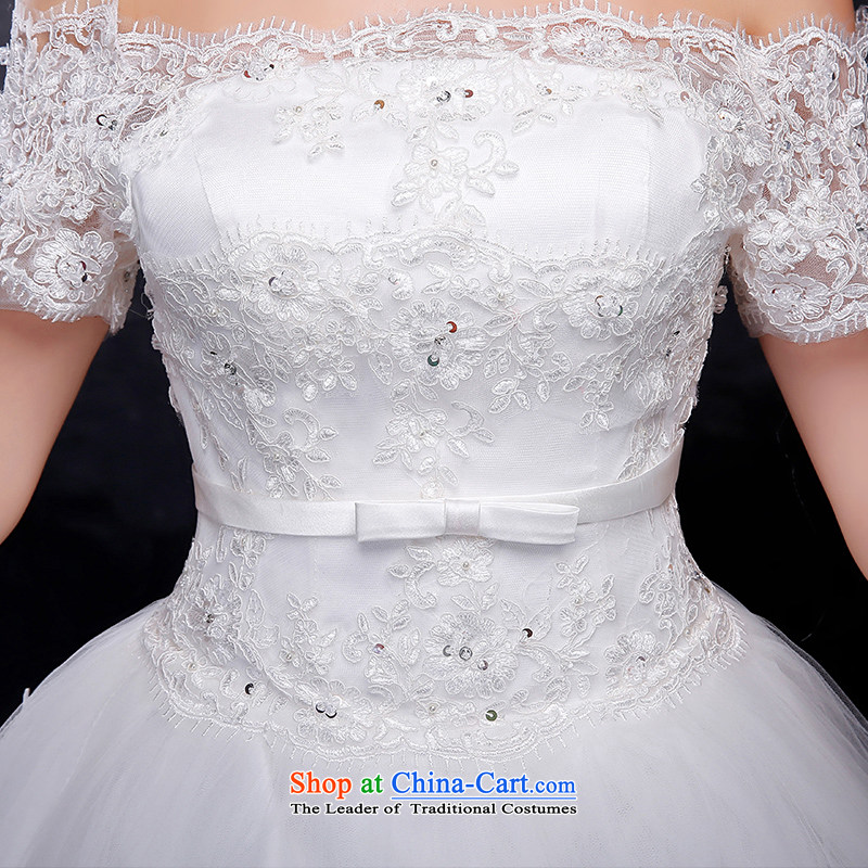 Summer 2015 new Korean word lace shoulder larger video thin bride align to bind with the marriage wedding dress is embroidered brides XXL, white , , , shopping on the Internet