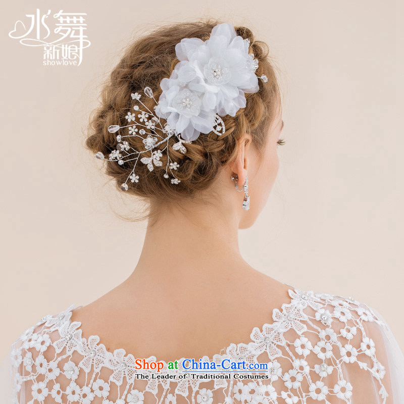 Water & bridal white beaded lace silk yarn flower flower and wedding headdress Qinyang Sophie small fairies