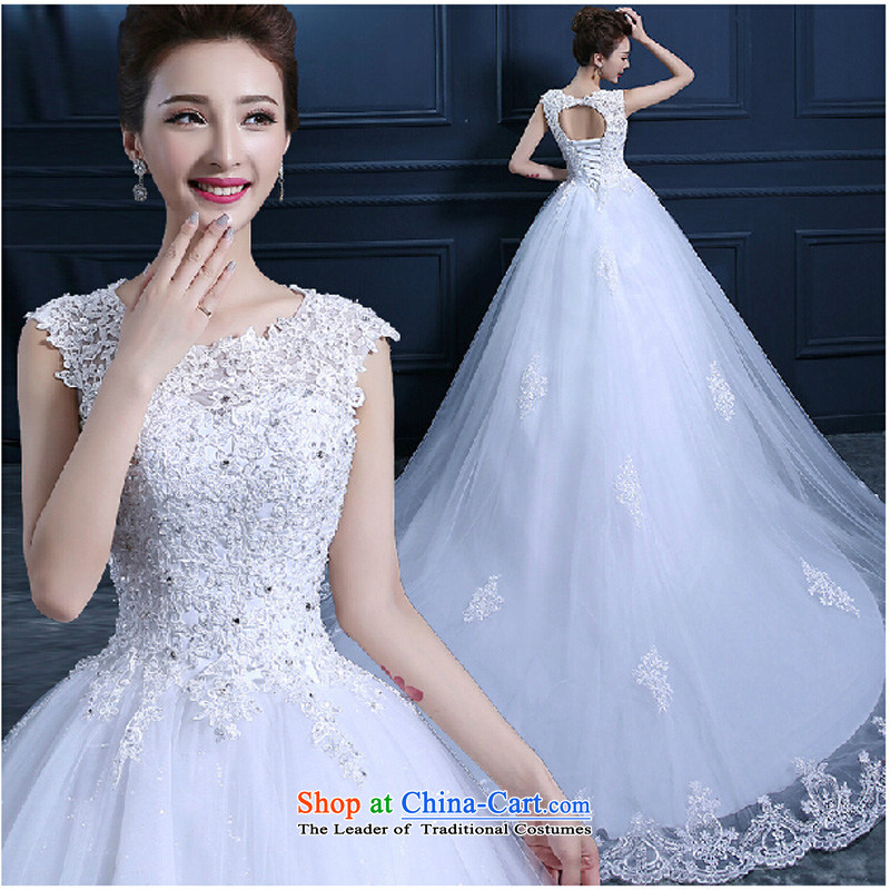 2015 bride quality custom word shoulder and chest straps spring wedding dresses red stylish long tail lace video thin tail_聽S
