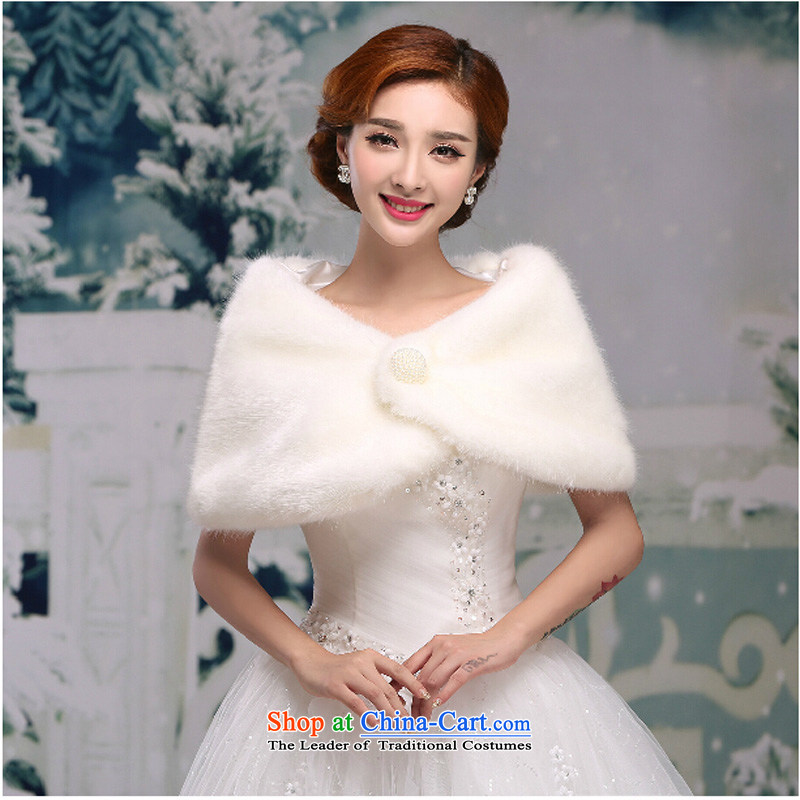 Pure Love bamboo yarn high autumn and winter new wedding shawl red and white high gross shawl bridesmaid dress shawl marriage are white jacket code