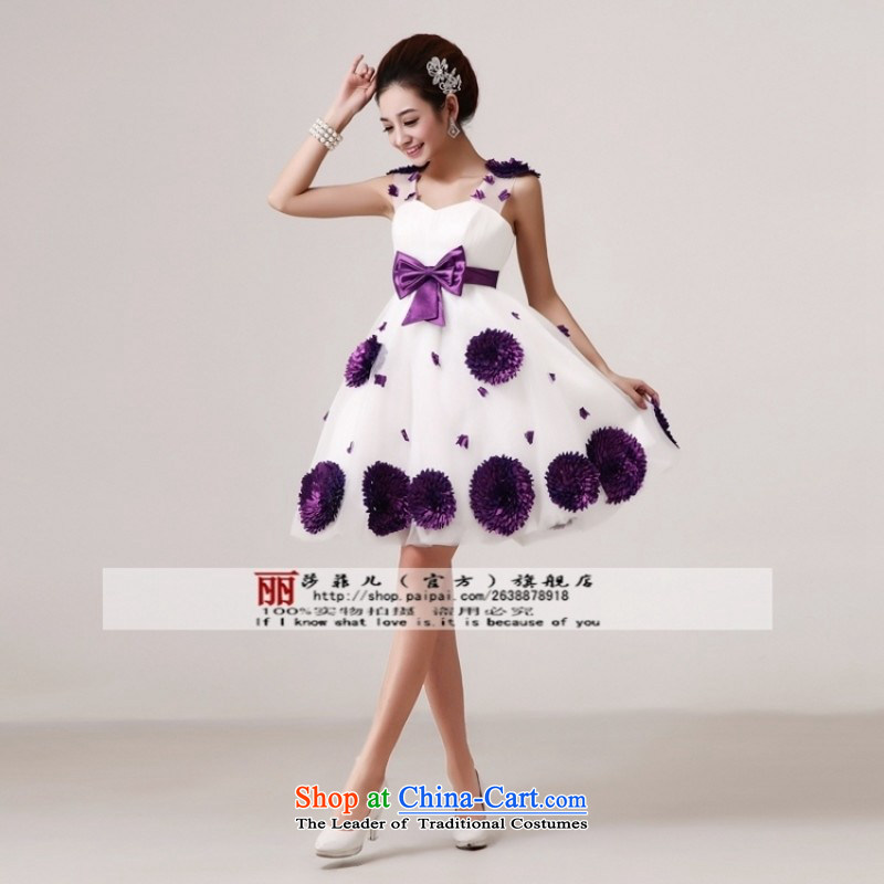 Break clearance of the cost. The new bride wedding dresses cheongsam wedding photography subject wedding dresses?U89 S white purple flowers