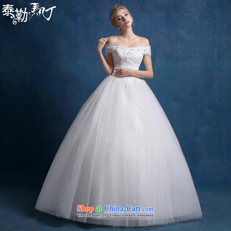 The new 2015 Martin Taylor bride wedding dresses autumn minimalist back alignment with chest video thin wedding lace a field shoulder wedding white (sent three kit) L