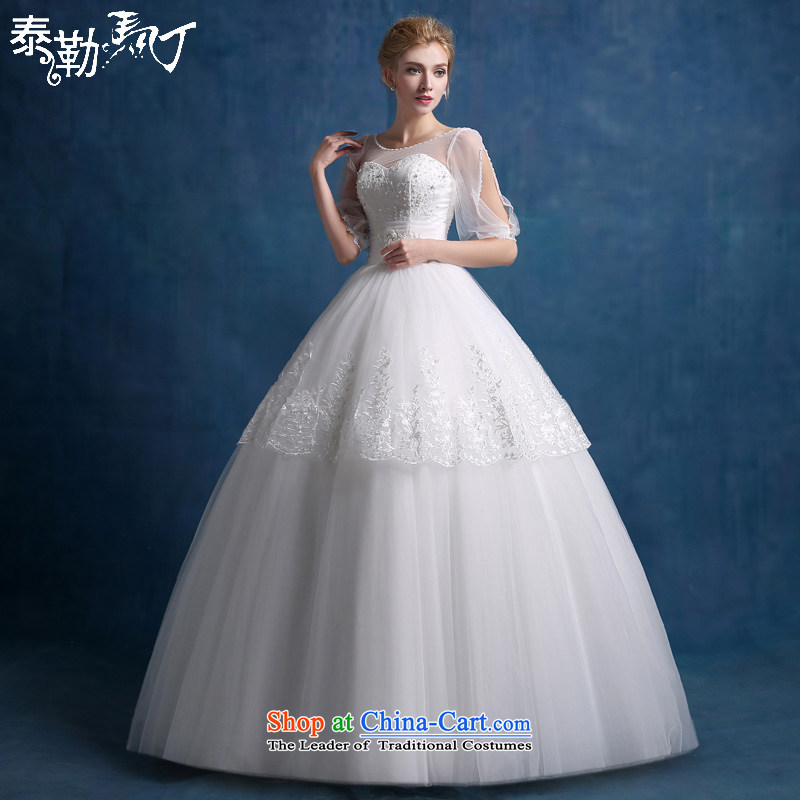 Martin Taylor engraving sexy Korean style to align the shoulder bride wedding dresses 2015 new stylish Sweet graphics thin pregnant women wedding white (sent three kit) XL