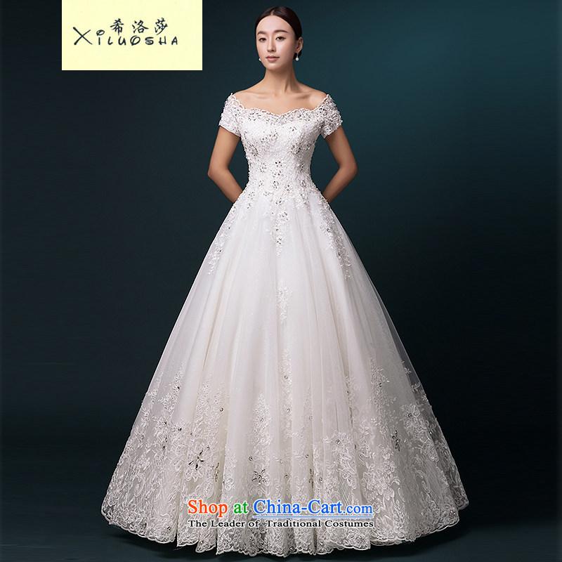 Hillo Lisa (XILUOSHA) wedding dresses 2015 new bride wedding alignment strip cuff wedding word shoulder high-end custom wedding White?XXL