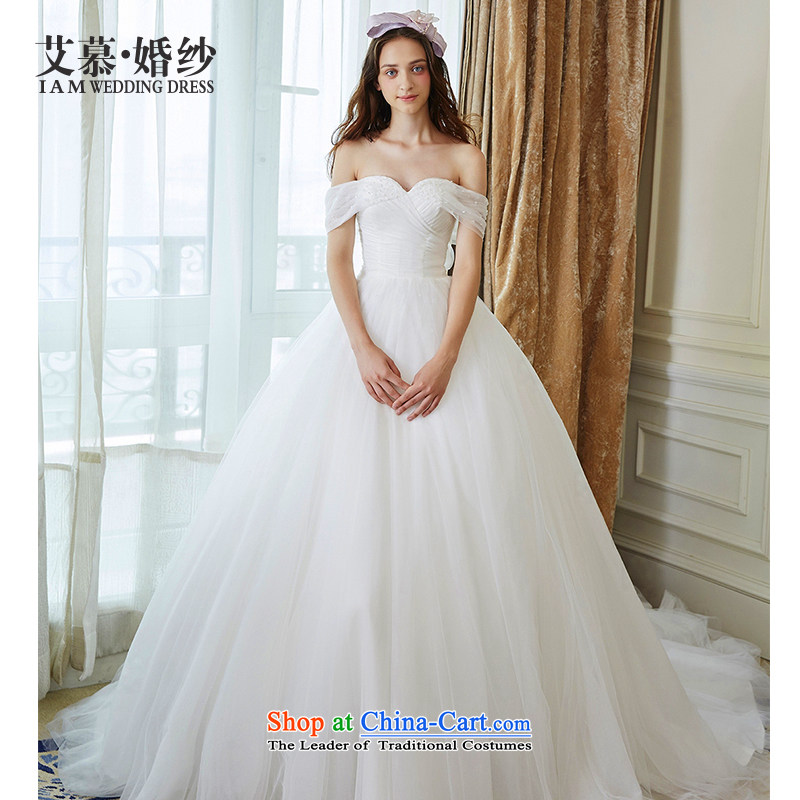 The wedding dresses HIV New Word 2015 droplets world shoulder bon bon skirts and chest wedding ivory?S
