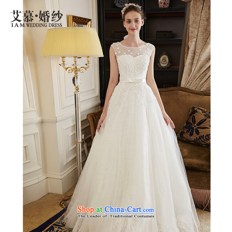 The wedding dresses HIV 2015 New Flower Hei shoulders water-soluble lace A skirt wedding ivory?S