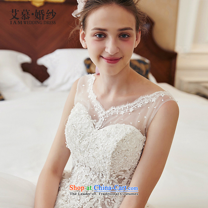 Wedding dresses new understanding of 2015 Back bon bon skirt lace long tail wedding ivory S