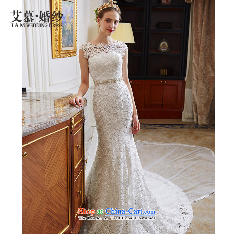 The wedding dresses HIV NEW 2015 Fuser dream lace Top Loin foutune crowsfoot wedding ivory�S