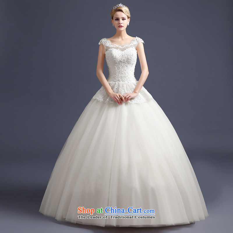 Korean style wedding video thin?Word 2015 new bride to align the shoulder straps wedding-dress Princess Foutune of shoring champagne color banding, white?XL