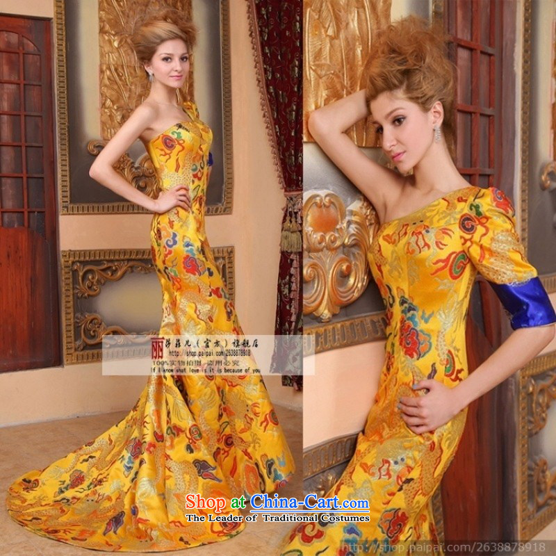 Break clearance of the cost. The new bride wedding dresses cheongsam wedding photography subject wedding dresses dragon robe M
